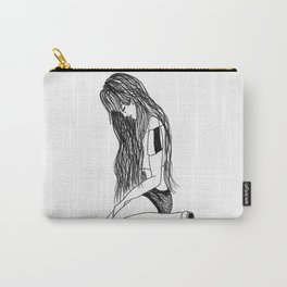 T.A : Sitting Girl Carry-All Pouch