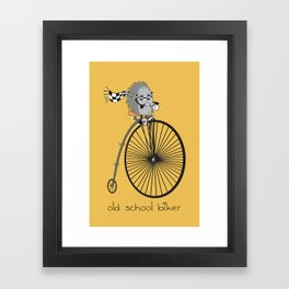 old school biker Framed Art Print