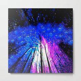 Stars and Trees Metal Print