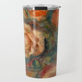 "Auguste Renoir ""Bouquet of Roses (Bouquet de roses)"" Travel Mug"