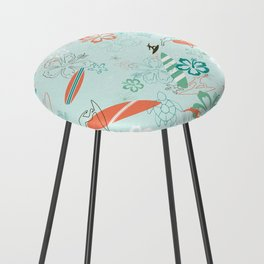 Surfs Up Blue Counter Stool