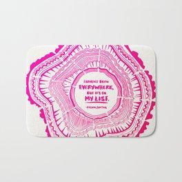 My List – Pink Ombré Ink Bath Mat