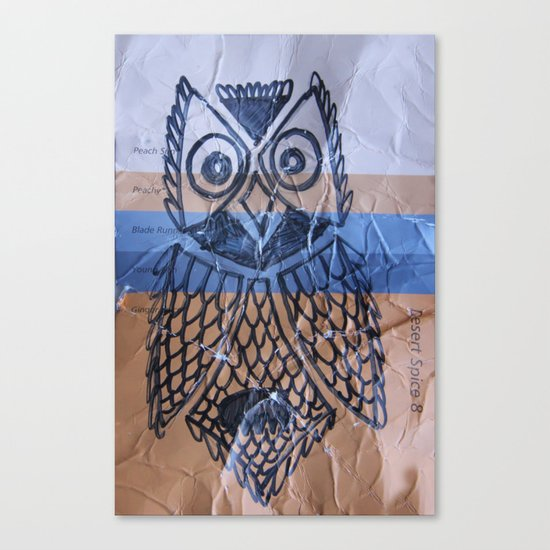 orange owl Canvas Print