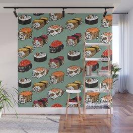 Sushi English Bulldog Wall Mural