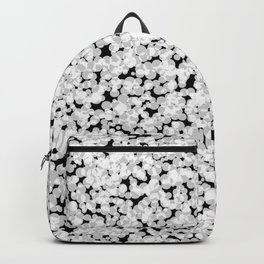 Black and white bubble sponge texture Backpack