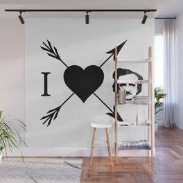 I Love (Heart) Edgar Allan Poe Wall Mural