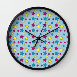 Vinnie Star 1 - Cornflower Wall Clock