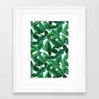 palm Framed Art Prints featuring Palm  by Amy Sia
