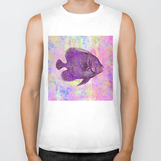 Fish W Biker Tank