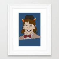 fandom Framed Art Prints featuring Fandom Monster by Dansparce
