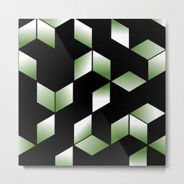 Elegant Origami Geometric Effect Design Metal Print