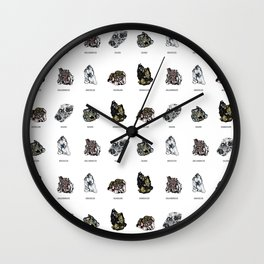 Rock collection with names Wall Clock