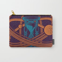 Time Infinity Planet System With Cosmos Sandglass Carry-All Pouch