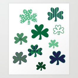 Cray Shamrocks Art Print