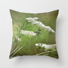 Queen Ann's Lace Throw Pillow