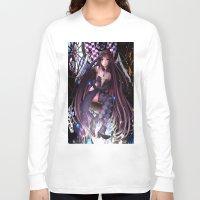 madoka magica Long Sleeve T-shirts featuring Homura Akemi - Madoka Magica Rebellion by SauceBox16