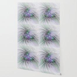 Abstract Floral Fractal Art Wallpaper