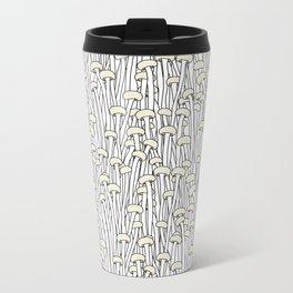 Enokitake Mushrooms (pattern) Metal Travel Mug
