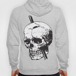 Frontal Lobotomy Skull Of Phineas Gage Vector Isolated Hoody