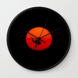 Vietnam Helicopter Sunset Wall Clock