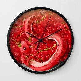 Berry dragon Wall Clock