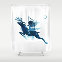 archer Shower Curtains featuring Elf Archer by Freeminds