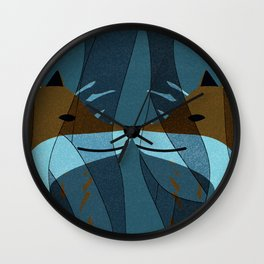 Gorgeous Foxes Kiss Design Wall Clock