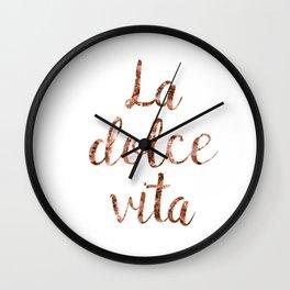 Rose gold La Dolce Vita Wall Clock