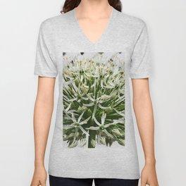 457 - White Flower Unisex V-Neck