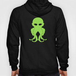Lovecraftian Styled Octopus Logo - Green Hoody