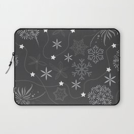 Stars on a string with snowflake and fireworks Laptop Sleeve