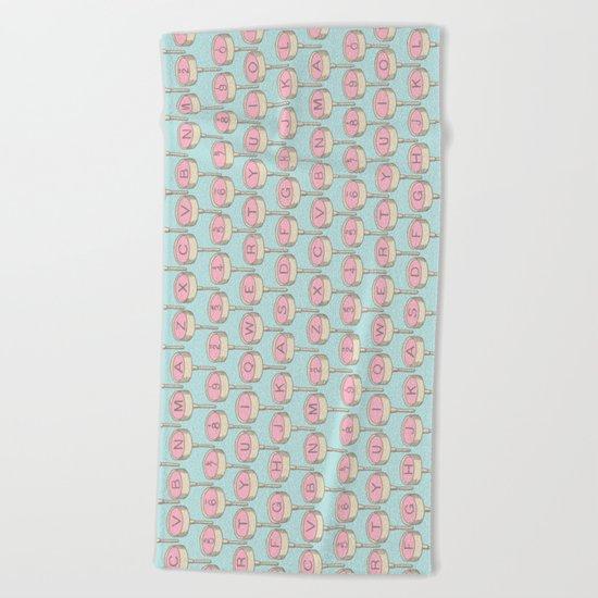 Infinite Typewriter_Blue Sky and Pink Beach Towel