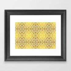 Random rope on gold foil Framed Art Print