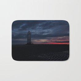 Talacre Lighthouse Sunrise Bath Mat