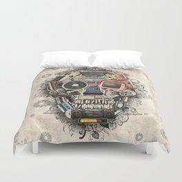 retro tech skull 2 Duvet Cover