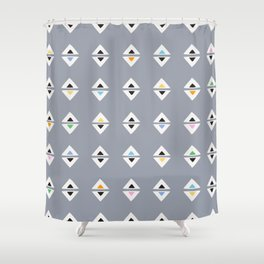 ALWAYS TRIANGLES Shower Curtain