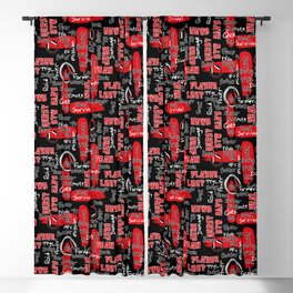 Gamer Lingo-Black and Red Blackout Curtain