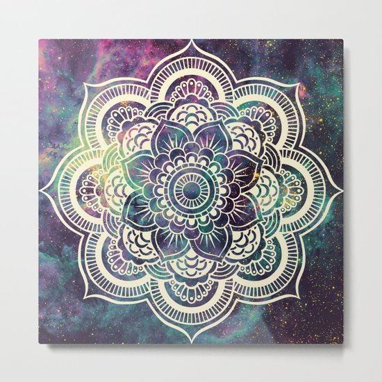 Galaxy Mandala : Deep Pastels Metal Print