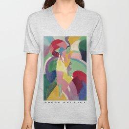 La Parisienne - Robert Delaunay - Art Poster Unisex V-Neck