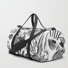 The Shaping of a Man - b&w Duffle Bag