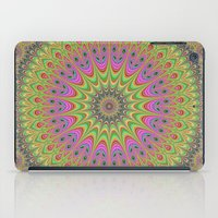 mandala iPad Cases featuring Floral ornament mandala  by David Zydd