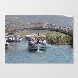 Boat Tour Along the Azmak Akyaka Turkey Canvas Print