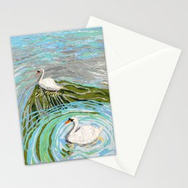 Two Swans Stationery Cards