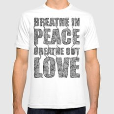 BREATHE Mens Fitted Tee White MEDIUM