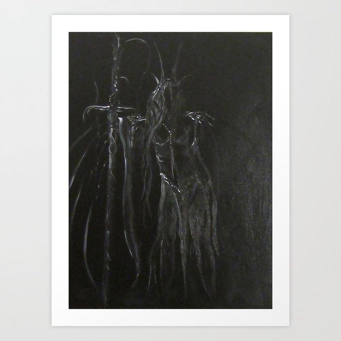 Night's Empress Art Print