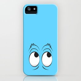 Monster Eyes Blue iPhone Case