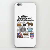 leslie knope iPhone & iPod Skins featuring Things Leslie Knope puts Whipped Cream on by Liana Spiro