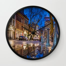 Portrait of Gastown, Vancouver Wall Clock