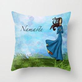 Namaste for Yoga Throw Pillow