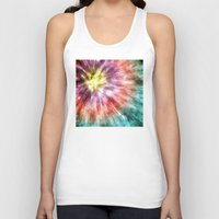 tie dye Tank Tops featuring Color Filled Tie Dye by Phil Perkins